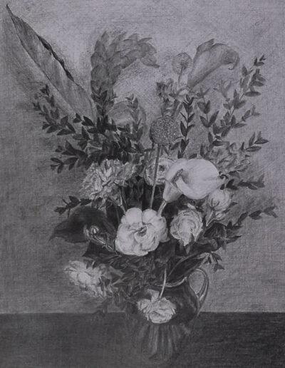Blumenstrauß - Zeichnung ©Ann-Kristin Iwersen 2019